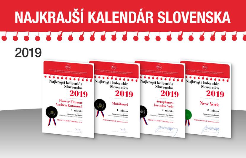 NEJKRÁSNĚJŠÍ KALENDÁŘ SLOVENSKA 2019