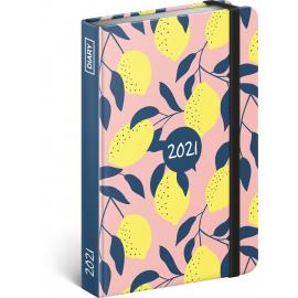 Weekly diary Lemon 2021, 11 × 16 cm