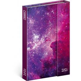 Týdenní magnetický diář Galaxie 2021, 11 × 16 cm