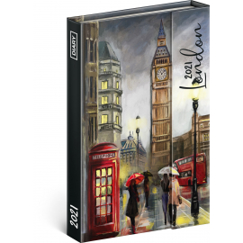 Magnetic weekly diary London 2021, 11 × 16 cm