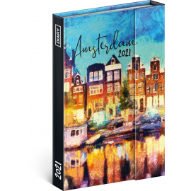 Magnetic weekly diary Amsterdam 2021, 11 × 16 cm