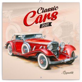 Grid calendar Classic Cars – Václav Zapadlík 2021, 30 × 30 cm