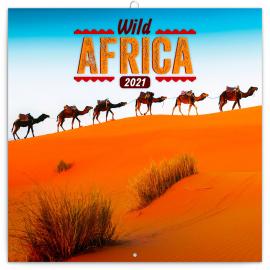 Grid calendar Wild Africa 2021, 30 × 30 cm