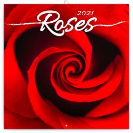 Grid calendar Roses – scented 2021, 30 × 30 cm