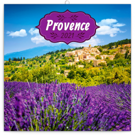 Grid calendar Provence – scented 2021, 30 × 30 cm