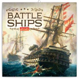 Grid calendar Battleships 2021, 30 × 30 cm