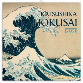 Grid calendar Katsushika Hokusai 2021, 30 × 30 cm
