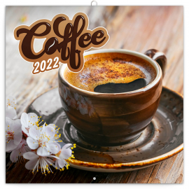 Poznámkový kalendář Káva 2022, voňavý, 30 × 30 cm