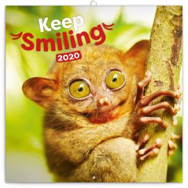 Poznámkový kalendář Úsměv, prosím 2020, 30 × 30 cm