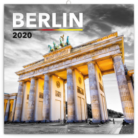 Grid calendar Berlin 2020, 30 × 30 cm