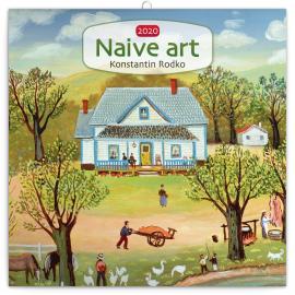 Poznámkový kalendář Naivní umění – Konstantin Rodko 2020, 30 × 30 cm
