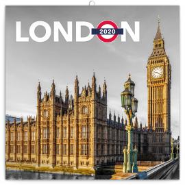 Grid calendar London 2020, 30 × 30 cm
