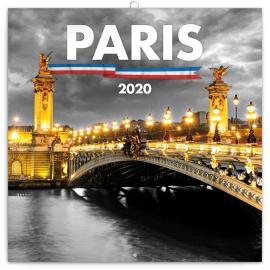 Grid calendar Paris 2020, 30 × 30 cm