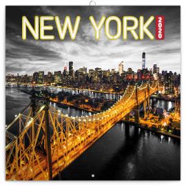 Poznámkový kalendář New York 2020, 30 × 30 cm