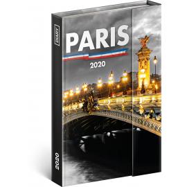 Magnetic weekly diary Paris 2020, 11 × 16 cm