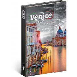 Týdenní magnetický diář Benátky 2020, 11 × 16 cm