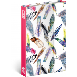 Magnetic weekly diary Feathers 2020, 11 × 16 cm
