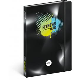 Fitness diář 2018, 15 x 21 cm