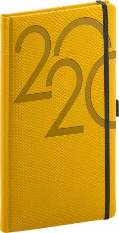 Kapesní diář Ajax 2020, zlatý, 9 × 15,5 cm