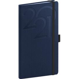 Kapesní diář Ajax 2021, modrý, 9 × 15,5 cm