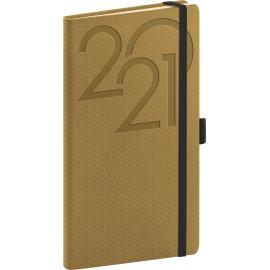 Pocket diary Ajax gold 2021, 9 × 15,5 cm