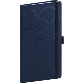 Kapesní diář Ajax 2022, modrý, 9 × 15,5 cm