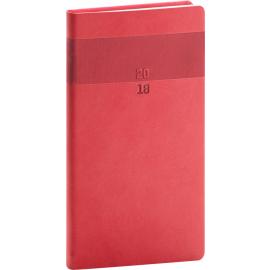 Pocket diary Aprint 2018, červený, 9 x 15,5 cm
