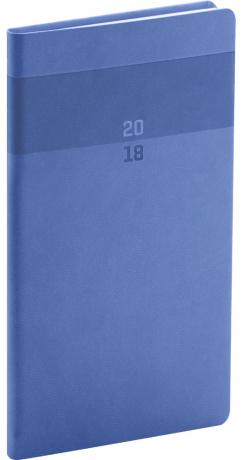 Kapesní diář Aprint 2018, modrý, 9 x 15,5 cm