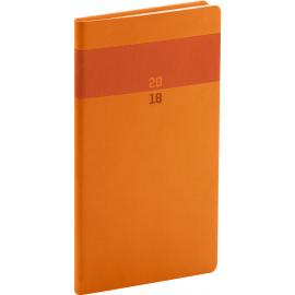 Kapesní diář Aprint 2018, oranžový, 9 x 15,5 cm