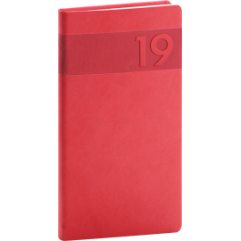 Pocket diary Aprint red 2019, 9 x 15,5 cm