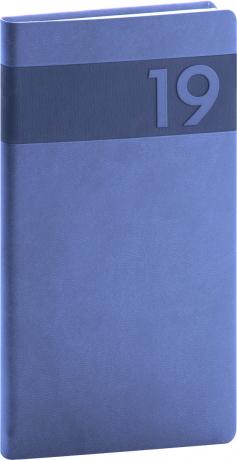 Kapesní diář Aprint 2019, modrý, 9 x 15,5 cm