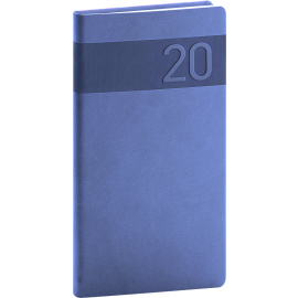 Pocket diary Aprint blue 2020, 9 × 15,5 cm