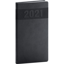 Pocket diary Aprint black 2021, 9 × 15,5 cm