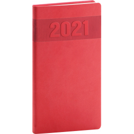 Pocket diary Aprint red 2021, 9 × 15,5 cm