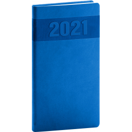 Pocket diary Aprint blue 2021, 9 × 15,5 cm