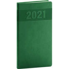 Pocket diary Aprint green 2021, 9 × 15,5 cm