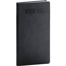 Kapesní diář Aprint 2022, černý, 9 × 15,5 cm