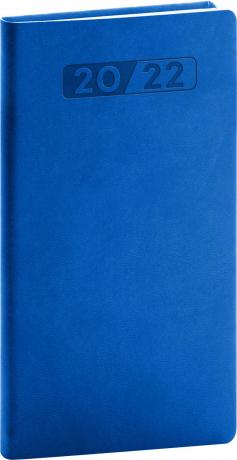 Kapesní diář Aprint 2022, modrý, 9 × 15,5 cm