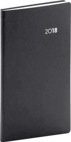 Kapesní diář Balacron 2018, černý, 9 x 15,5 cm