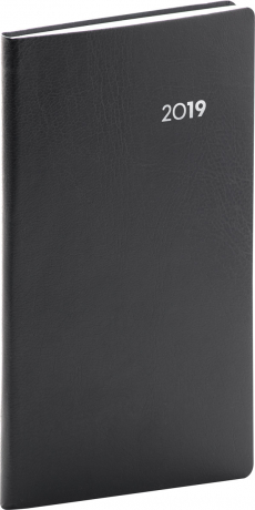 Kapesní diář Balacron 2019, černý, 9 x 15,5 cm