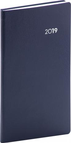 Kapesní diář Balacron 2019, modrý, 9 x 15,5 cm