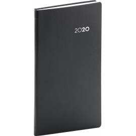 Pocket diary Balacron black 2020, 9 × 15,5 cm
