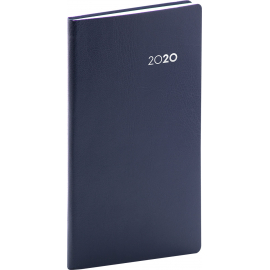 Pocket diary Balacron dark blue 2020, 9 × 15,5 cm