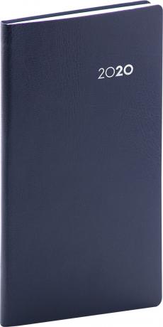 Kapesní diář Balacron 2020, tmavě modrý, 9 × 15,5 cm
