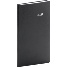 Pocket diary Balacron black 2021, 9 × 15,5 cm