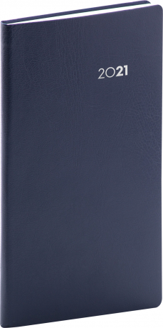 Kapesní diář Balacron 2021, tmavě modrý, 9 × 15,5 cm