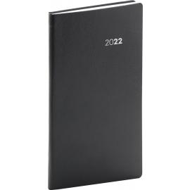 Kapesní diář Balacron 2022, černý, 9 × 15,5 cm