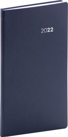 Kapesní diář Balacron 2022, tmavě modrý, 9 × 15,5 cm