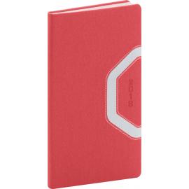Pocket diary Bern 2018, červenostříbrný, 9 x 15,5 cm