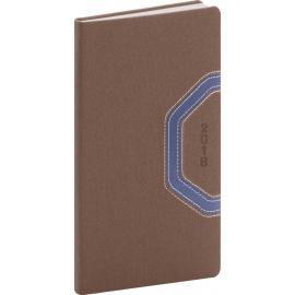 Pocket diary Bern 2018, hnědomodrý, 9 x 15,5 cm